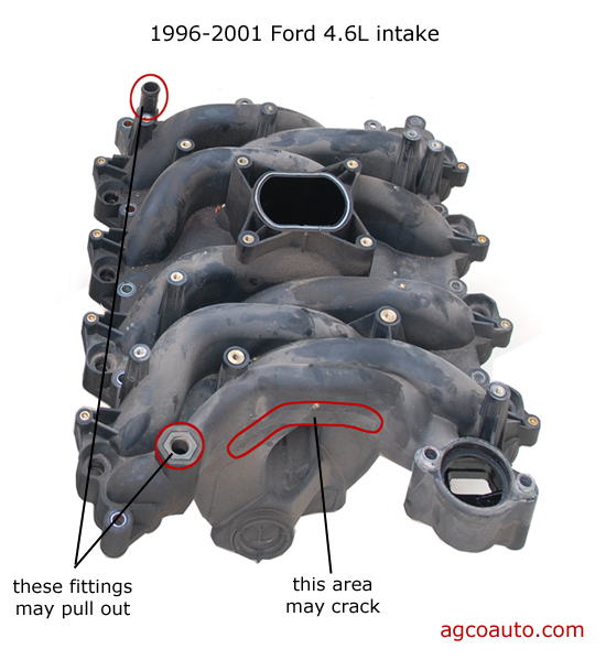 Problems with the 1996-2001 Ford intake manifold