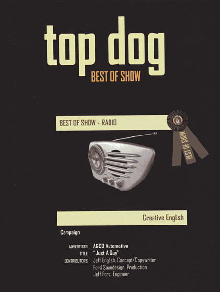 The Advertising Federation Top Dog Award