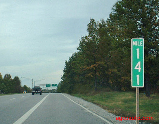 Mile markers can be used to verify odometer accuracy