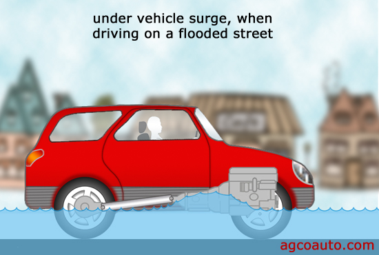 An SUV or truck is just as susceptible to water damage